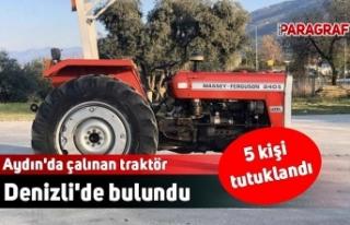 Aydın'da çalınan traktör Denizli'de...