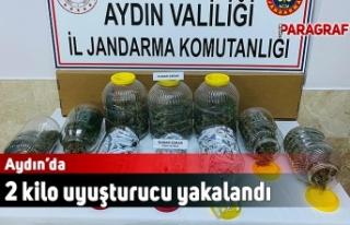 Aydın'da 2 kilo uyuşturucu yakalandı
