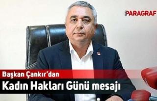 Başkan Çankır'dan Kadın Hakları Günü mesajı