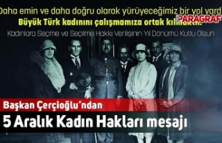 Başkan Çerçioğlu'ndan 5 Aralık Kadın Hakları...