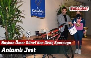 Başkan Ömer Günel'den Genç Sporcuya Anlamlı...