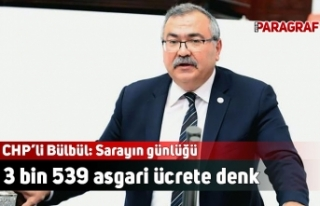 CHP'li Bülbül: Sarayın günlüğü 3 bin 539...