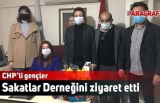 CHP'li gençler Sakatlar Derneğini ziyaret etti