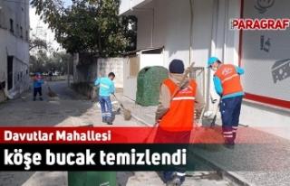 Davutlar Mahallesi köşe bucak temizlendi