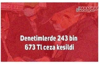 Denetimlerde 243 bin 673 tl ceza kesildi