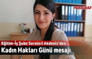 Eğitim-İş Şube Sereteri Akdeniz'den Kadın...