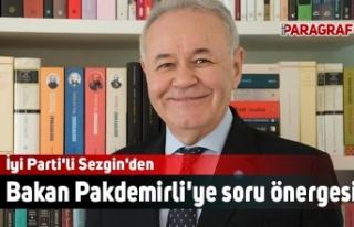 İyi Parti'li Sezgin'den Bakan Pakdemirli'ye...
