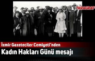 İzmir Gazeteciler Cemiyeti'nden Kadın Hakları...