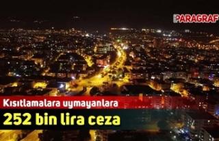 Kısıtlamalara uymayanlara 252 bin lira ceza