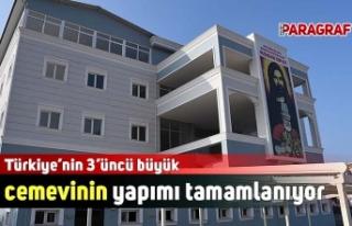 Türkiye'nin 3'üncü büyük cemevinin yapımı...
