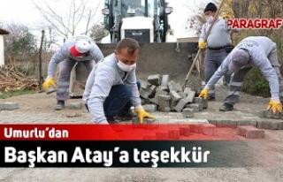 Umurlu'dan Başkan Atay'a teşekkür