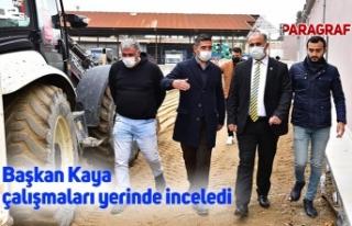 Başkan Kaya çalışmaları yerinde inceledi