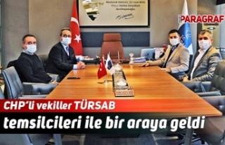 CHP'li vekiller TÜRSAB temsilcileri ile bir araya...