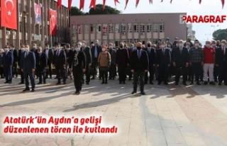 Atatürk'ün Aydın'a gelişi düzenlenen tören...