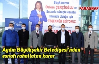 Aydın Büyükşehir Belediyesi'nden esnafı...