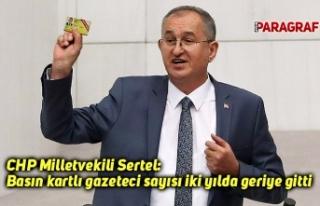 CHP Millitvekili Sertel: Basın kartlı gazeteci sayısı...
