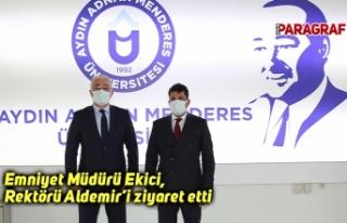 Emniyet Müdürü Ekici, Rektörü Aldemir'i ziyaret...