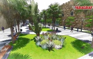 Kuşadası Barbaros Bulvarı'na Belediye'den yeşil...