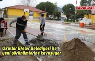 Okullar Efeler Belediyesi ile yeni görünümlerine...