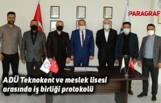 ADÜ Teknokent ve meslek lisesi arasında iş birliği...