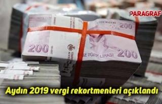 Aydın 2019 vergi rekortmenleri açıklandı