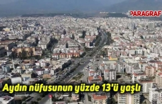 Aydın nüfusunun yüzde 13'ü yaşlı