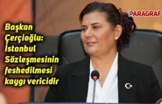 Başkan Çerçioğlu: İstanbul Sözleşmesinin feshedilmesi...