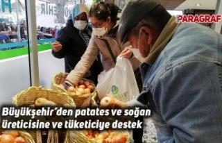 Büyükşehir'den patates ve soğan üreticisine...