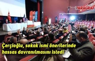 Çerçioğlu, sokak ismi önerilerinde hassas davranılmasını...