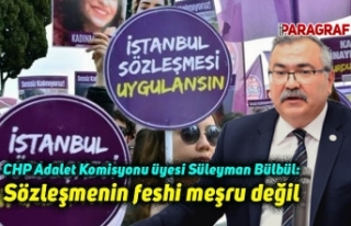 CHP Adalet Komisyonu üyesi Süleyman Bülbül: Sözleşmenin...