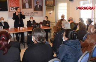 CHP Aydın Eski Milletvekili Baydar Kuşadalı partilileri...