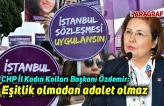 CHP İl Kadın Kolları Başkanı Özdemir: Eşitlik...
