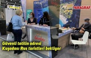 Güvenli tatilin adresi Kuşadası Rus turistleri...