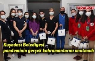 Kuşadası Belediyesi pandeminin gerçek kahramanlarını...
