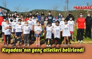 Kuşadası'nın genç atletleri belirlendi