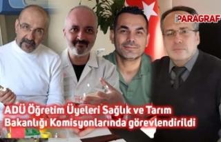 ADÜ Öğretim Üyeleri Sağlık ve Tarım Bakanlığı...