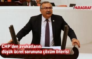 CHP'den avukatların düşük ücret sorununa çözüm...