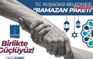 Kuşadası Belediyesi'nden 4 bin aileye ramazan...
