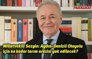 Milletvekili Sezgin: Aydın-Denizli Otoyolu için...
