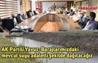 AK Partili Yavuz; Barajlarımızdaki mevcut suyu adaletli...