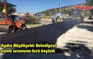 Aydın Büyükşehir Belediyesi asfalt sezonuna hızlı...
