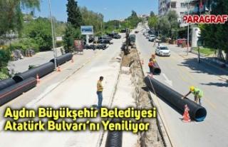 Aydın Büyükşehir Belediyesi Atatürk Bulvarı'nı...