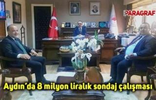 Aydın'da 8 milyon liralık sondaj çalışması