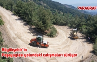 Büyükşehir'in Paşayaylası yolundaki çalışmaları...