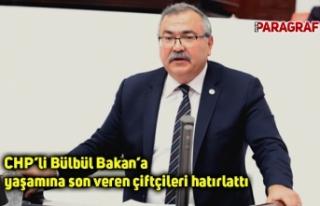 CHP'li Bülbül Bakan'a yaşamına son veren çiftçileri...