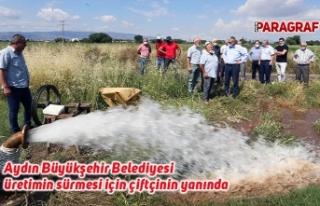 Aydın Büyükşehir Belediyesi üretimin sürmesi...