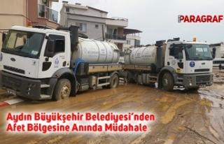Aydın Büyükşehir Belediyesi'nden Afet Bölgesine...