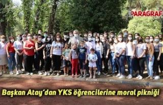 Başkan Atay'dan YKS öğrencilerine moral pikniği