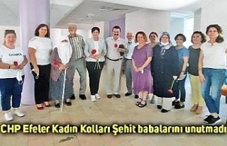CHP Efeler Kadın Kolları Şehit babalarını unutmadı