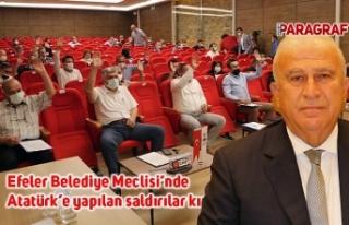 Efeler Belediye Meclisi'nde Atatürk'e yapılan...